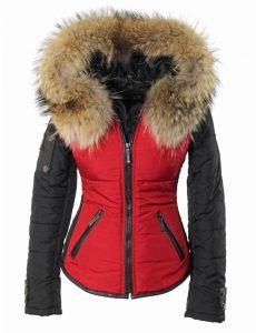 versano-dames-winterjas-met-bontkraag-Shamila-rood-voor